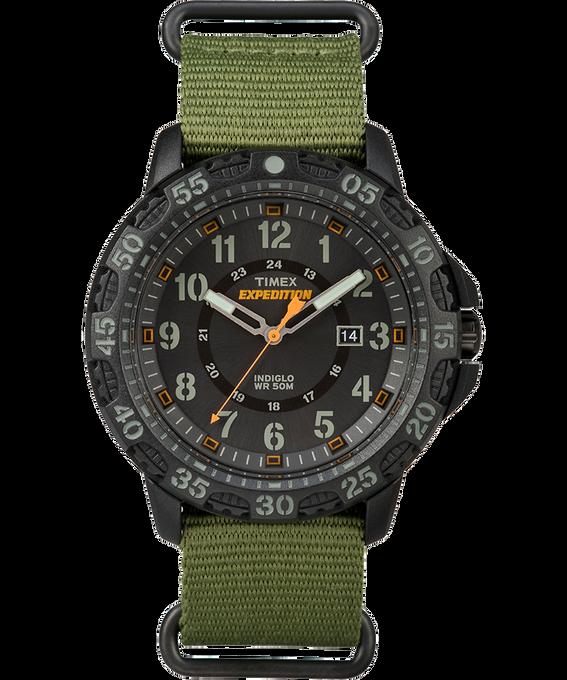 Expedition Gallatin 44mm Nylon Strap Watch Black/Green large