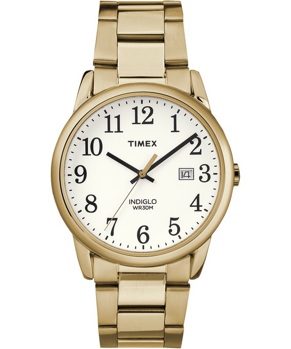 Easy Reader 38mm Stainless Steel Watch with Date  Gold-Tone/White large