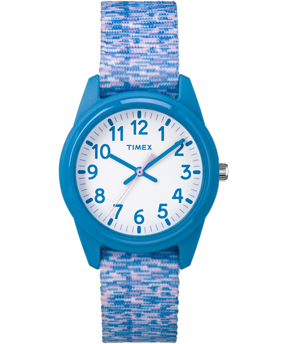 Kids Analog 32mm Digi Nylon Strap Watch Blue/White large
