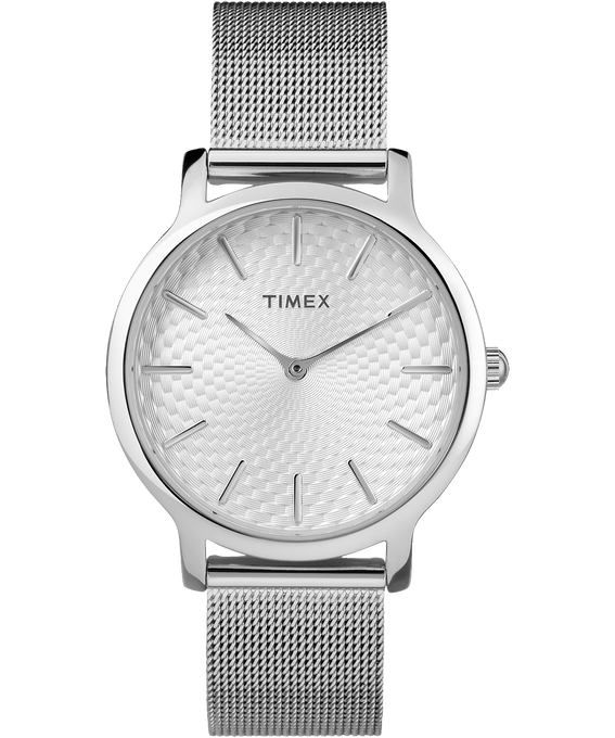 Metropolitan 34mm Stainless Steel Watch Silver-Tone large