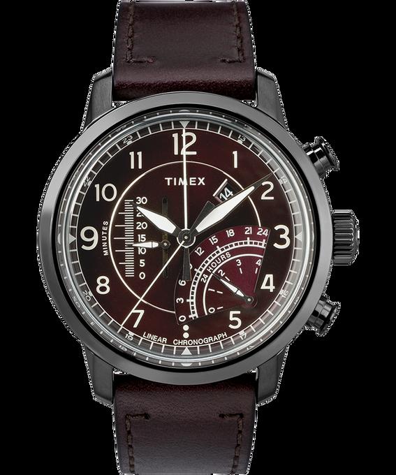 Waterbury Linear Chronograph 45mm Leather Watch