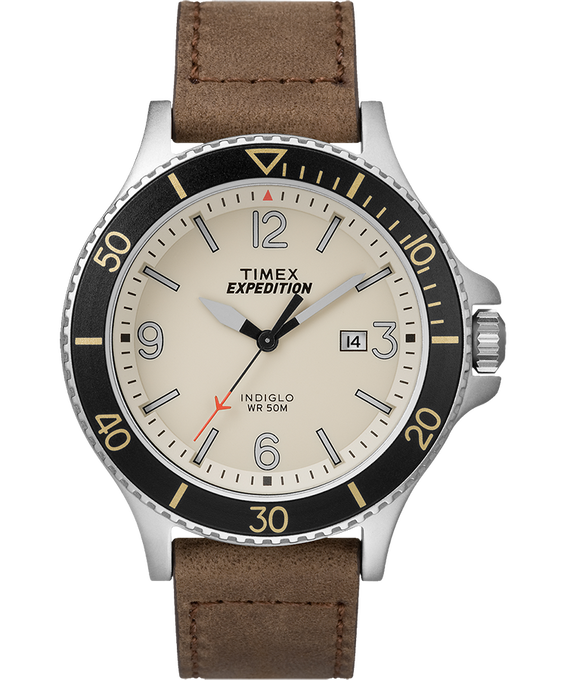 Expedition Ranger 43mm Leather Watch IP-Steel/Tan/Natural/Black large