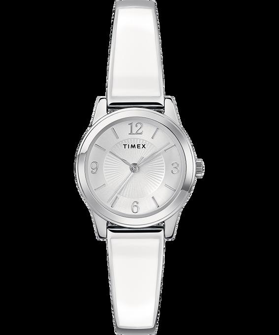 Fashion Stretch Bangle Armband, 25mm Silberfarben large