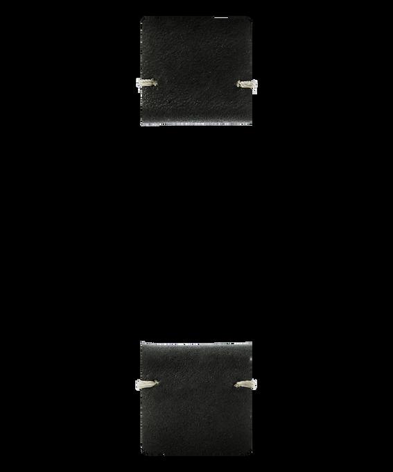 Zweiteiliges Armband aus schwarzem Leder  large