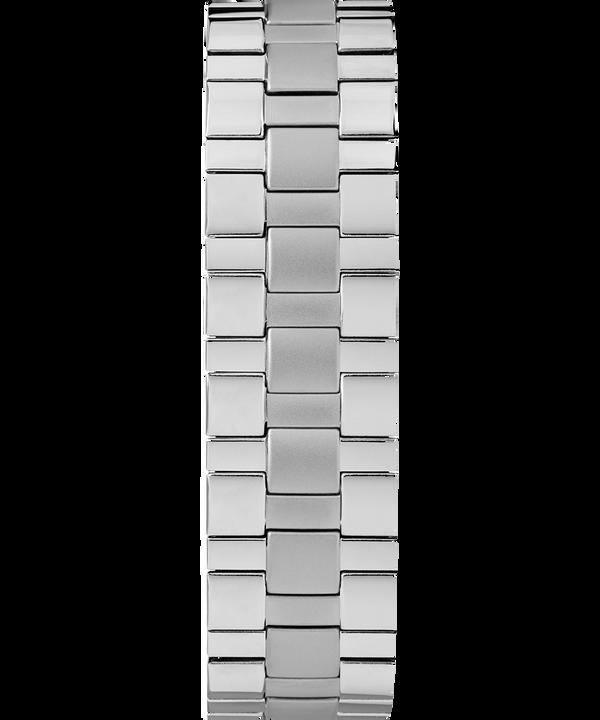 Easy Reader mit Tagesfunktion und Verlängerungsarmband, 38mm Chrome/Silver-Tone/White large