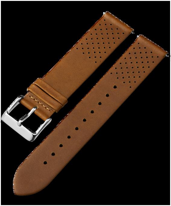 20 mm perforiertes Lederarmband mit Schnellverschluss Beige large