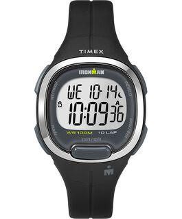 Ironman Transit, 10 33 mm, Mittlere Größe, Uhr mit Harzarmband Schwarz/silberfarben large