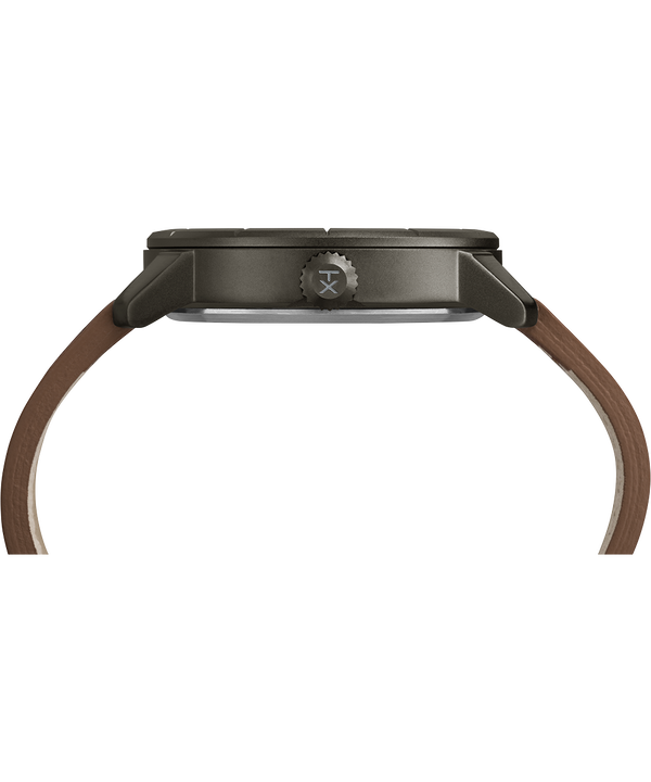 Mod44 mit Lederarmband, 44 mm Black/Brown large