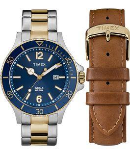 Geschenkset Harborside mit Armreif und Zusatzarmband, 43 mm Zweifarbig/blau large