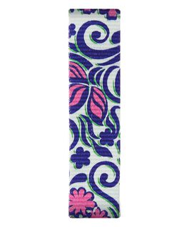 Blau/rosa gemustertes Nylon-Armband zum Überstreifen  large