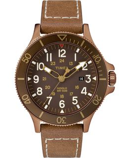 Allied Coastline mit Lederarmband, 43 mm Bronze-Tone/Brown large