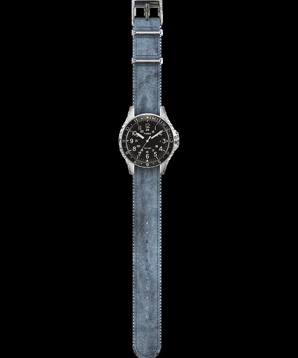 Navi Ocean 38mm Fabric Strap Watch Schwarz/blau large