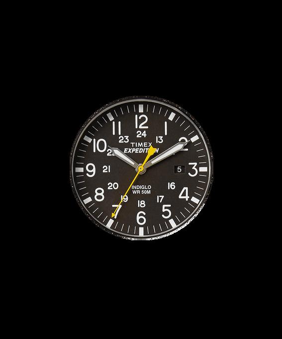 Schwarzes Ziffernblatt/gelber Sekundenzeiger  large