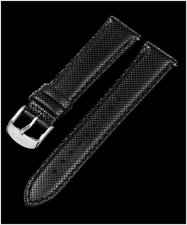 20 mm breites Lederarmband mit Schnellverschluss Black large