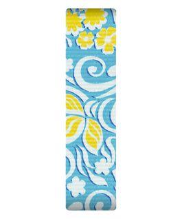 Blau/Nylon-Armband zum Überstreifen mit gelbem Muster  large