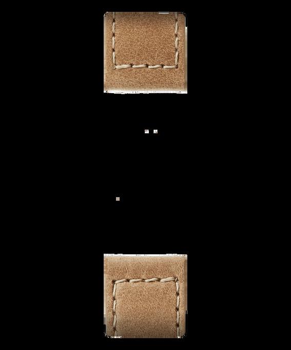 Zweiteiliges Armband aus beigem Leder  large