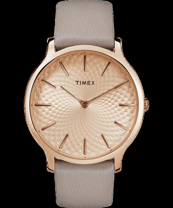Metropolitan 40mm Leather Watch Rose-Gold-Tone/Gray large