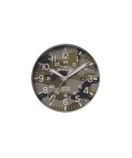 Camouflage-grünes Ziffernblatt/grauer Sekundenzeiger  large