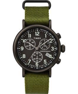 Standard Chronograph mit Textilarmband, 40mm Black/Green large