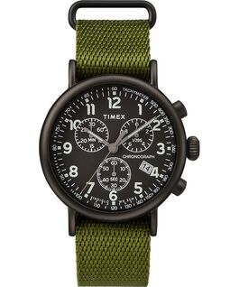 Standard Chronograph mit Textilarmband, 40 mm Black/Green large