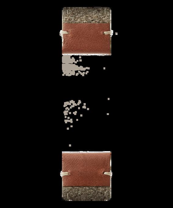 Braunes Leder/zweiteiliges Armband aus beigem Filz  large