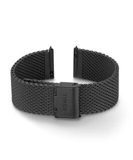 20 mm Mesh-Armband mit Schnellverschluss Schwarz large
