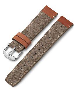 20 mm Leder- und Textilarmband Beige large