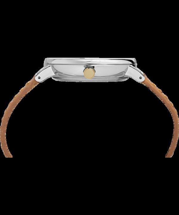 Southview Multifunktionsuhr mit Lederarmband, 41mm Silver-Tone/Tan/Blue large