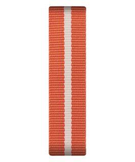 Orange/weißes Nylon-Armband zum Überstreifen  large