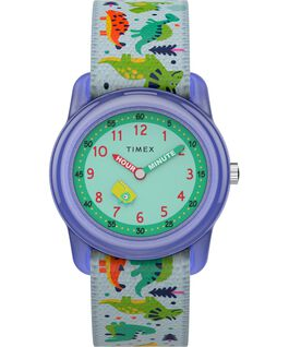 Kids Analog 28mm Elastic Fabric Strap Watch With Animal Prints Blue/White large