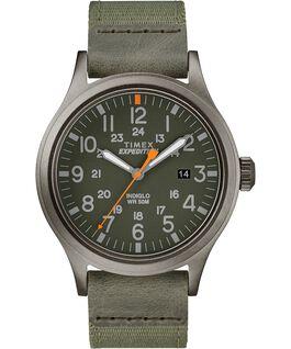Scout mit Textilarmband, 40mm Grau/grün large