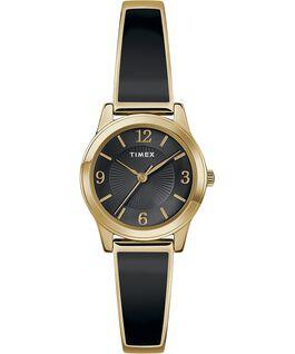Fashion Stretch Bangle Armband, 25mm Chrom/zweifarbig/schwarz large