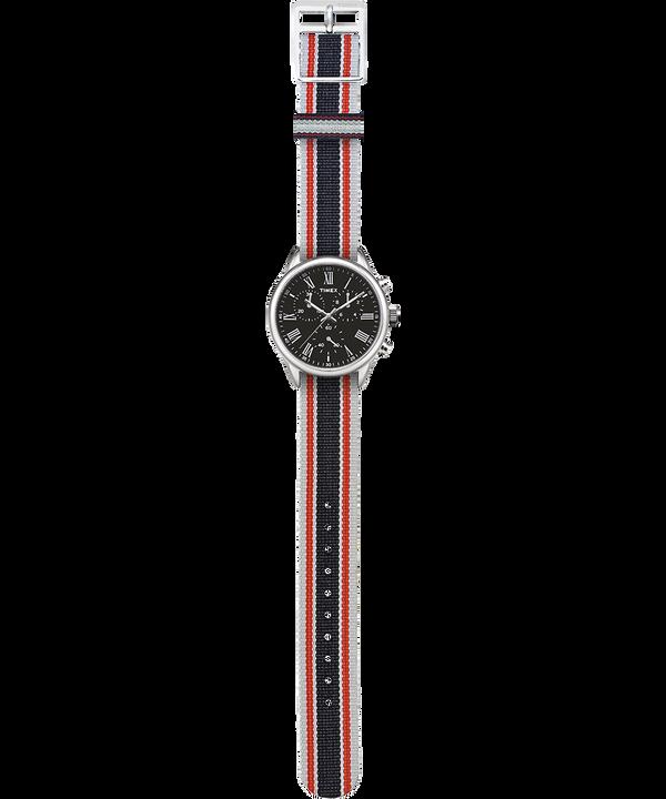 Weston Avenue mit Ripsband-Armband, 38 mm Edelstahl/schwarz large