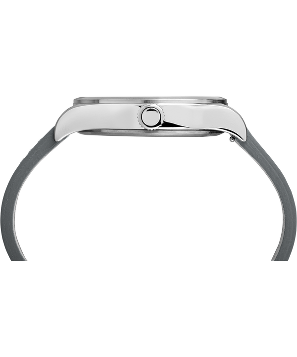 Waterbury Traditional mit Lederarmband, 40 mm Stainless-Steel/Gray large