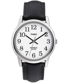 Easy Reader 35mm Leather Watch  Silver-Tone/Black/White large
