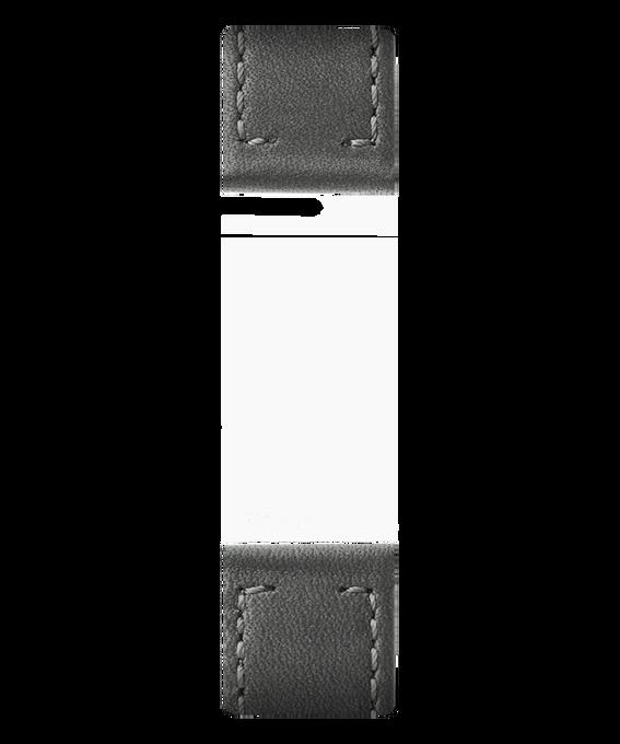 Zweiteiliges Armband aus grauem Leder  large