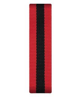 Rot/schwarzes Nylon-Armband zum Überstreifen  large
