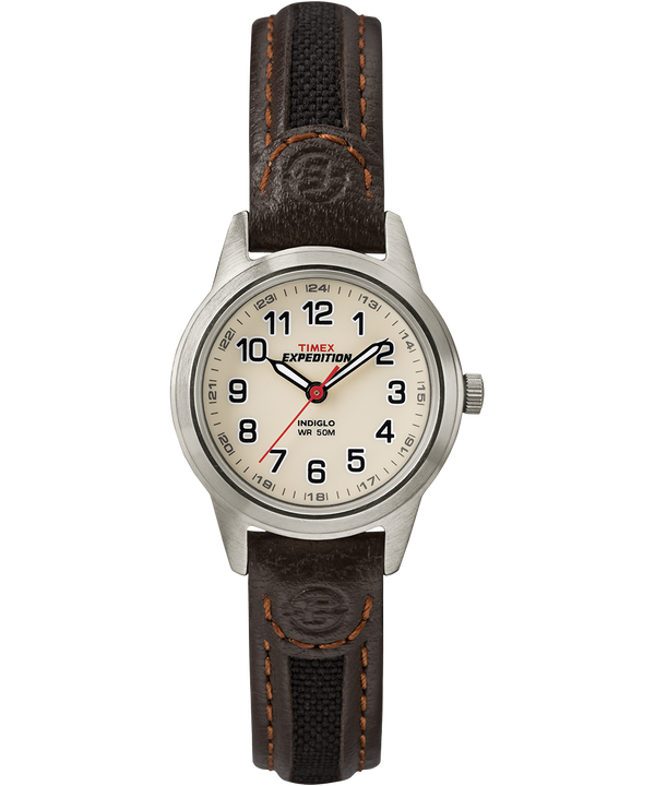 Expedition Field Mini mit Lederarmband, 26mm Silver-Tone/Brown/Natural large