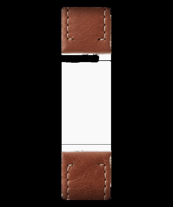 Zweiteiliges Armband aus braunem Leder  large