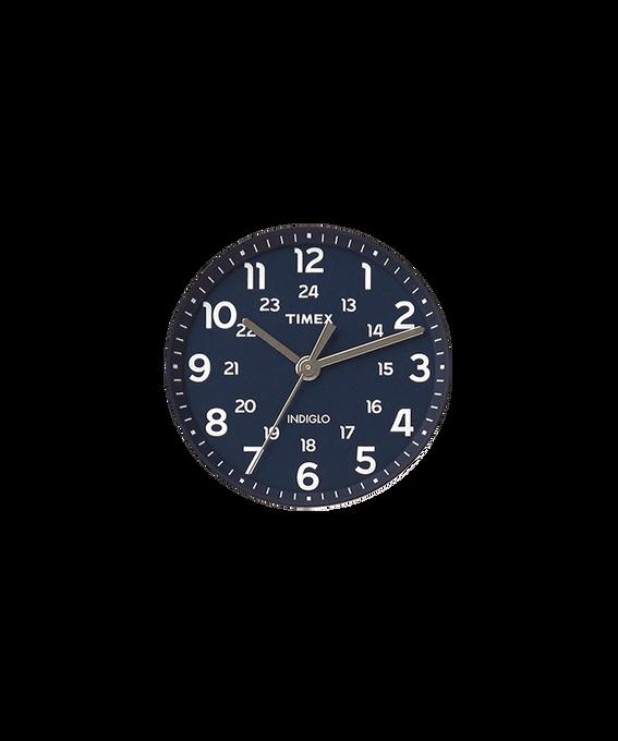 Blaues Ziffernblatt/silberfarbener Sekundenzeiger  large