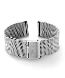 18 mm breites Mesh-Schnellverschlussarmband Silberfarben large
