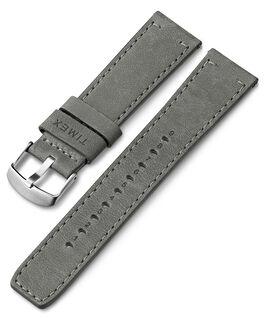 22 mm Lederarmband mit Schnellverschluss Grau large