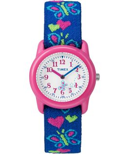 Kids Analog mit Elastikarmband, 29 mm Pink/Blue/White large