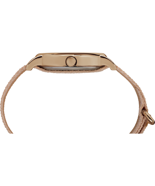Weekender mit Nylonarmband, 38 mm Rose-Gold-Tone/Pink/Cream large
