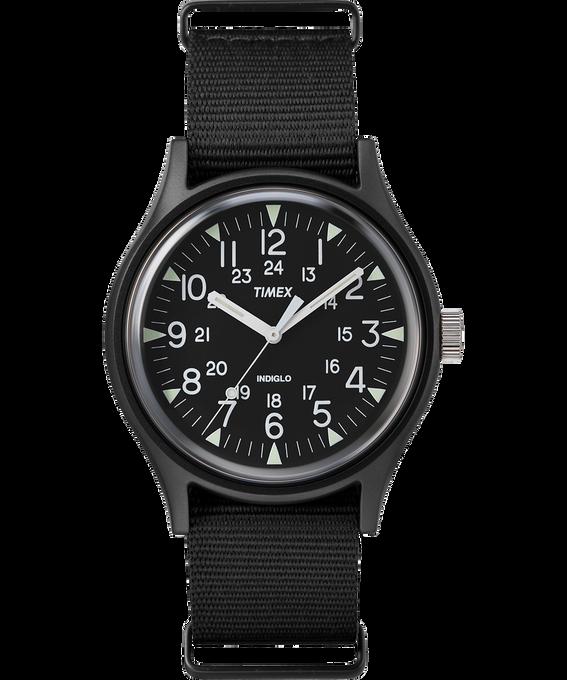 MK1 Aluminum 40mm Nylon Strap Watch Black large