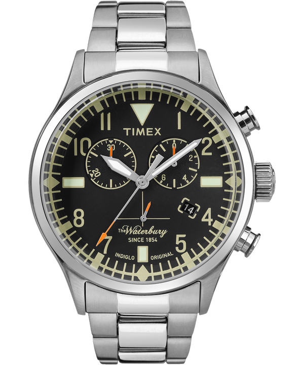 Waterbury Traditional Chronograph 42mm Stainless Steel Watch  large