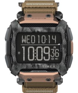 Command Shock 54mm Fabric Fast Wrap Watch Black/Brown large