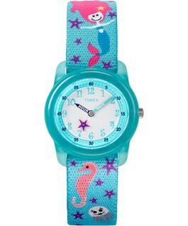 Kids Analog 32mm Nylon Strap Watch Blue/White large