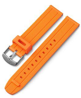 20 mm Silikonarmband mit Schnellverschluss Orange large