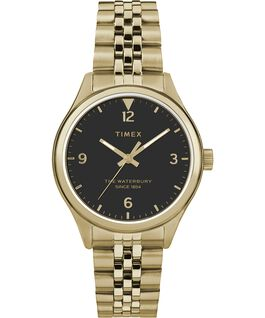 Waterbury Classic 34mm Watch Stainless Steel Gold-Tone/Black large